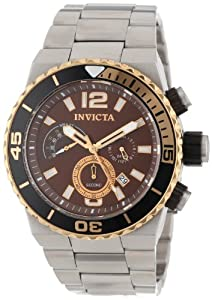 Invicta Men's 12994 Pro Diver Chronograph Brown Dial Stainless Steel Watch