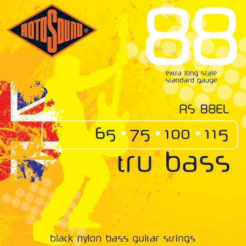 Rotosound RS88EL Black Nylon Flatwound Extra