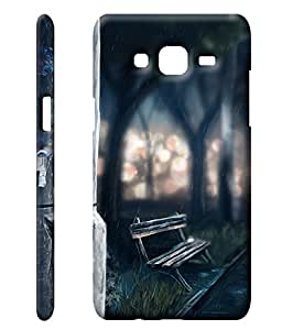 TheGiftKart Paint Art Dark Rainy Night Case Cover for Samsung Galaxy On5