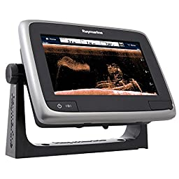Raymarine a78 Multifunction Display with CPT-100DVS Transom Mount Transducer & Navionics+, 7\