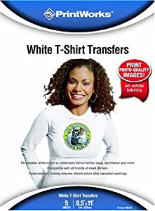 Printworks 8 1/2 x 11 Inch T-Shirt Transfers 10 Sheets (00480)