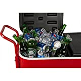 HIO 80 Qt Outdoor Patio Cooler Table On Wheels, Rolling Cooler, Red