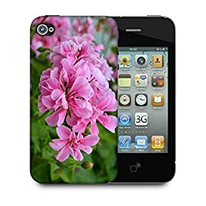 Snoogg Pink Flower Designer Protective Phone Back Case Cover For Apple Iphone 4