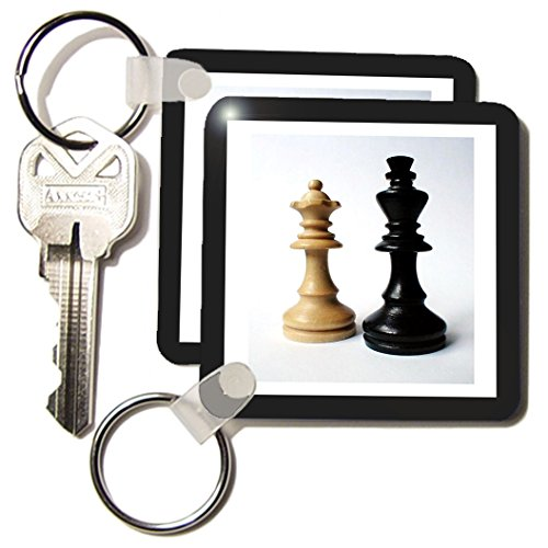 Florene Games - King n Queen Of Chess - Key Chains - set of 2 Key Chains (kc_80372_1)