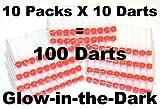 100 White Glow in Dark Soft Darts Refill: Refill for Nerf N-strike Elite Rampage/retaliator Series Blasters Nerf, Beebuzz,and Most of Nerf Guns!