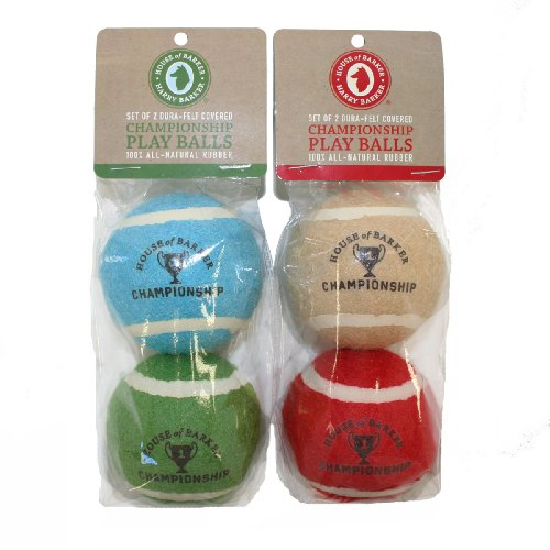 Eco-Friendly Championship Tennis Balls for Dogs: Large (Colors Vary)