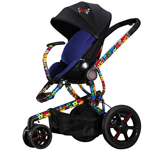 Quinny Britto Moodd Chassis With Blue Seat Pad