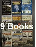 img - for Stephen E. Ambrose 9 Book Set: Citizen Soldiers / Band of Brothers / the Wild Blue / D-day / Undaunted Courage / Nothing Like It in the World / Americans At War / to America/ Victors book / textbook / text book
