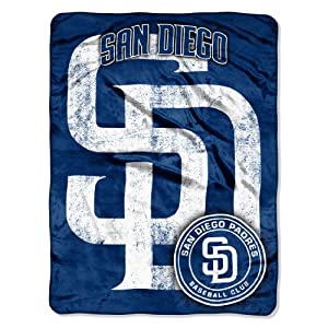 MLB San Diego Padres Micro Raschel Plush Throw Blanket, Trip Play Design by Northwest