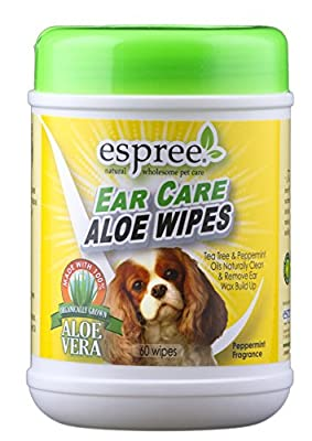 Espree Animal Products Ear Care Wipes, 60 Count