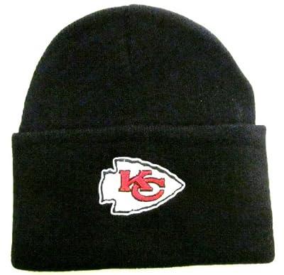 NFL End Zone Cuffed Knit Hat - K010Z, Kansas City Chiefs, One Size Fits All