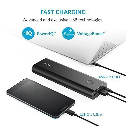Anker-PowerCore-20100-USB-CType-C-Ultra-High-Capacity-Premium-External-BatteryPortable-ChargerPower-Bank-6A-Output-PowerIQ-VoltageBoost-for-Apple-MacBook-iPhone-iPad-Samsung-more