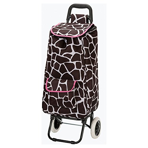 rockland-luggage-rolling-shopping-tote-pink-giraffe-one-size