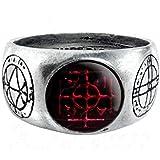 Agla Alchemy Gothic Pewter Talisman Ring