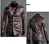 Men's Premium Slim Top Designed Sexy PU Leather Short Jacket Coat 3 by NYC Leather Factory Outlet