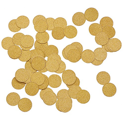 Outus Table Confetti Glitter Paper Dots Confetti Circles for Christmas Wedding, Table and Party Decoration, Gold, 2 Bags