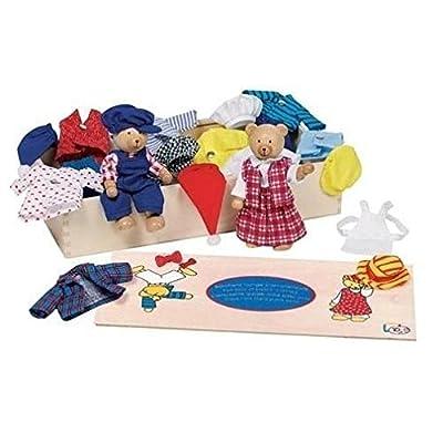 "Goki Flexible Puppets Bears ""Benna & Bennoh"" with Wardrobe Doll from C & J Direct GmbH & Co. KG"