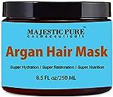 Majestic Pure Argan Oil Hair Mask, Hydrating & Restorative Hair Care Repair Mask, 8.5 Oz