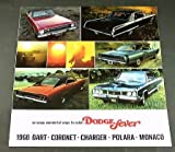 1968 68 DODGE Fever BROCHURE Dart Charger Coronet