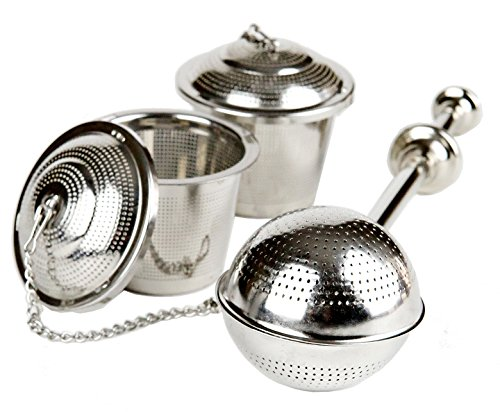 Sale!! UEndure Tea Infusers, Long Handle Tea Ball Strainer and Loose Leaf Tea Infuser Baskets, Stain...