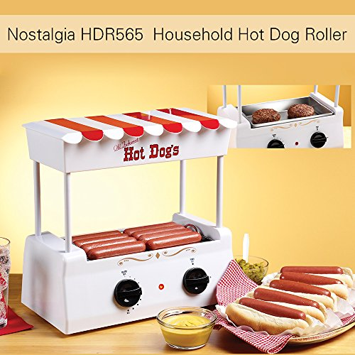 Nostalgie HDR565 Grill à Hot-Dog Domestique avec 5 Rouleaux en Acier Inoxydable