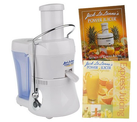 Jack Lalanne Compact Power Juicer Express Deluxe MT-1020 with 2 Recipe Books, White (Juicer Express compare prices)