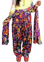 Tinnu G Women's Rayon Salwar and Dupatta Set (TGRPS1004_Purple_Free Size)