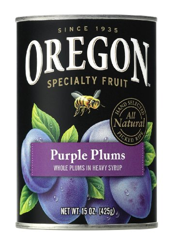 Oregon Fruit Whole Purple Plums in Heavy Syrup, 15-Ounce Cans (Pack of 8) (Fruit Cans compare prices)