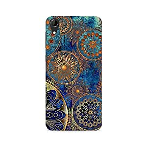 Ebby Golden Floral Gears Premium Printed Case For HTC Desire 728