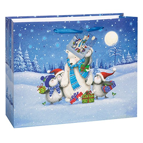 Large Starry Night Christmas Gift Bag