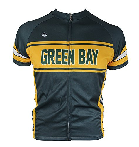 Green Bay Retro-style Cycling Jersey (Large) (Wisconsin Cycling Jersey compare prices)