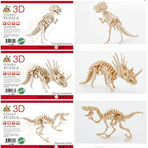 BeautyMood-3D-Wooden-Simulation-Animal-Dinosaur-Assembly-Puzzle-Model-Toy-for-Kids-and-Adults3-piece-Set