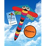 "#1 Gigantic Kite, 10.5 Feet Easy Flyer Single Line Kite, Includes Kite Flying 101 Guide & 8"" Frisbee"