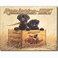 Remington UMC Finders Keepers First in the Field Hunting Dogs Retro Vintage Tin Sign