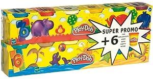Play Doh - 230231860 - Loisirs Créatifs - Pâte à Modeler - 6 Pots + 6 Pots Gratuits