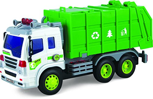 Friction-Powered-Toy-Garbage-Truck-With-Lights-Sounds-TG640-G-Friction-Truck-Toy-By-ThinkGizmos-Trademark-Protected