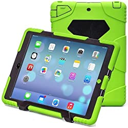 iPad Air 2 Case,iPad 6 Case,Aceguarder New Design[Waterproof][Shockproof][Scratchproof][Drop resistance]Super Protection Cover Case iPad Air 2(iPad 6)(2015)(green-black)