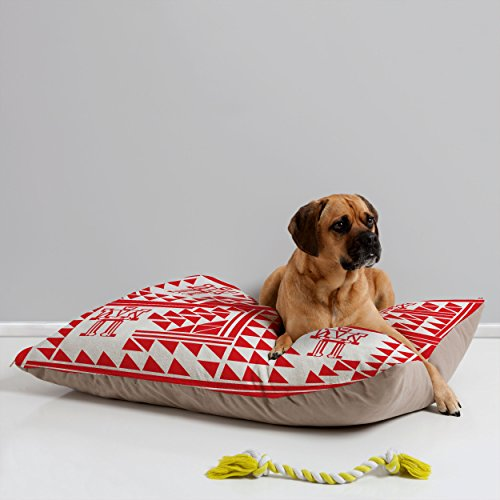 Deny Designs Vy La Robots And Triangles Pet Bed, 40 By 30-Inch front-406136