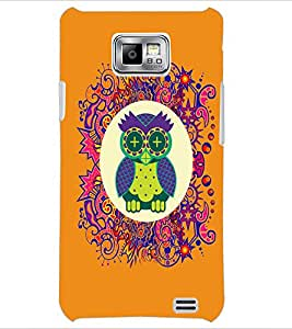 PrintDhaba Funny Owl D-3543 Back Case Cover for SAMSUNG GALAXY S2 (Multi-Coloured)