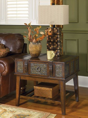 Cheap Rustic Dark Brown McKenna End Table (T753-3)