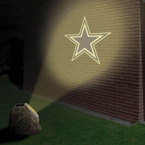 Dallas Cowboys Logo Solar Projection Rock