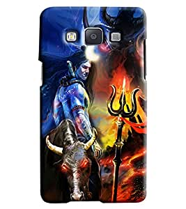 Blue Throat Shiv Bhole Effect Printed Designer Back Cover/ Case For Samsung Galaxy A7