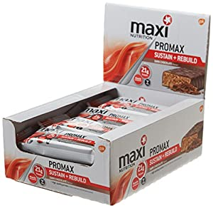 MaxiNutrition Promax Sustain and Rebuild Bars - Chocolate, 60 g, Box of 12