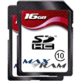 2 x Speicherkarte SD SDHC 16 GB - Class 4 für Canon EOS 1100D/600D, Canon IXUS 220 HS, Canon PowerShot A3300 IS/SX220 HS, Fujifilm FinePix S2950, GoPro HD Helmet HERO, GoPro HD Motorsports Hero, GoPro Motorsports Hero Wide, Nikon Coolpix S3100/S9100, Olympus Tough TG-810/VR-310, Panasonic Lumix DMC-TZ20/SDR-S70, Sony Cyber-shot DSC-HX9V/DSC-T110/DSC-W510/DSC-W530/DSC-W570/DSC-WX7/Handycam DCR-SX15E/Handycam DCR-SX33E/Handycam HDR-CX130E, Toshiba Camileo S30 & more