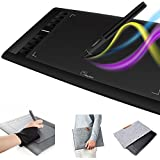 "Parblo A610 Graphic Drawing Tablet 10"" x 6"" 2048 Levels Pressure Pen Tablet with Wool Felt Liner Bag and Anti-fouling Glove"