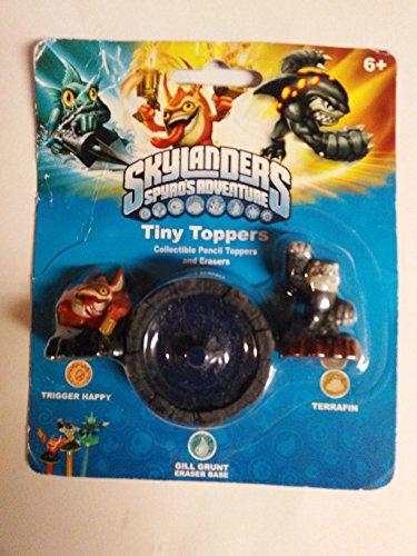 Skylanders Tiny Toppers Erasers: Terrafin, Trigger Happy & Gill Grunt - 1