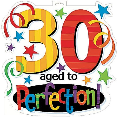 Aged To Perfection 30th Birthday Cut Outs - Each