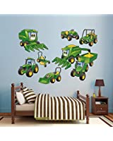 """John Deere Johnny Tractor Farming Collection Real Big Fathead Wall Decals Assorted on a 4'4"""" x 6'7"""" sheet"""