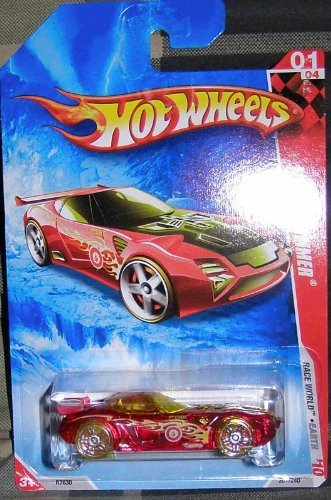 HOT WHEELS 2010 RACE WORLD EARTH 01 OF 04 TRANSLUCENT RED NERVE HAMMER - 1