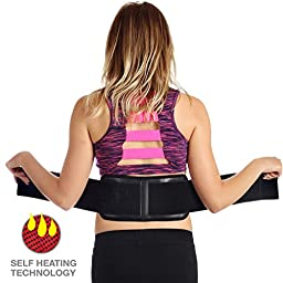 ★SALE★ Ziraki Adjustable Lumbar Lower Back Support Massage Brace ★ Self-heating Magnetic Therapy Belt ★ Relieve Pain And Stress ★ FDA Approved (Black, L 31\